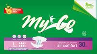 Подгузники для взрослых MyCo Extra Economy 30 шт MyCo Extra Economy размер М (76-114) см 30 шт