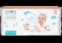 Одноразовые пеленки OVO для новорожденных, 60x60 см, 1500 мл, 30 шт.