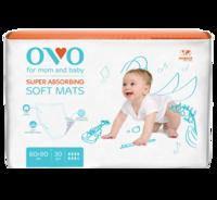 Одноразовые пеленки OVO для новорожденных, 60x90 см, 1840 мл, 30 шт.