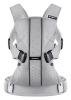 Рюкзак-кенгуру BabyBjorn Baby Carrier One Air Silver Mesh светло-серый (93004)