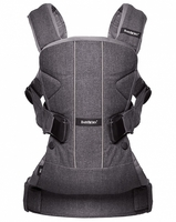 Рюкзак-кенгуру BabyBjorn Carrier ONE Denim grey/Dark grey Cotton Mix