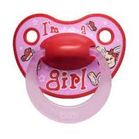 Пустышка силиконовая Bibi I'm a girl