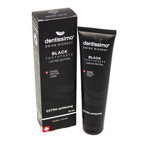 Зубная паста Dentissimo Extra Whitening Black отбеливающая, 75 мл