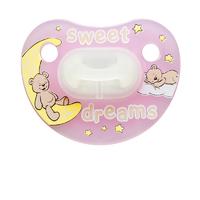 Пустышка силиконовая для сна (ночная) Bibi Sweet Dreams pink