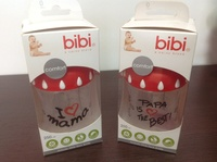 "Набор бутылочек с широким горлышком Bibi 250мл ""мама+папа"""