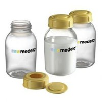 Бутылочки для сбора и хранения грудного молока Medela (Breastmilk bottles), 3 шт по  150 ml