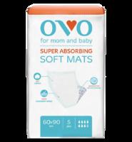 Одноразовые пеленки OVO для новорожденных, 60x90 см, 1840 мл, 5 шт.