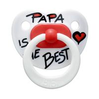 Пустышка латексная Bibi Papa is the best