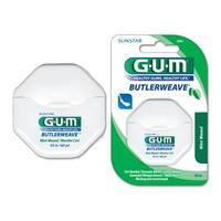 Зубная нить GUM BUTLERWEAVE MINT WAXED, мятная вощеная, 55 м