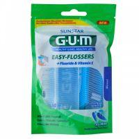 Зубная нить GUM Easy Flossers, c фторидом, 30 штук